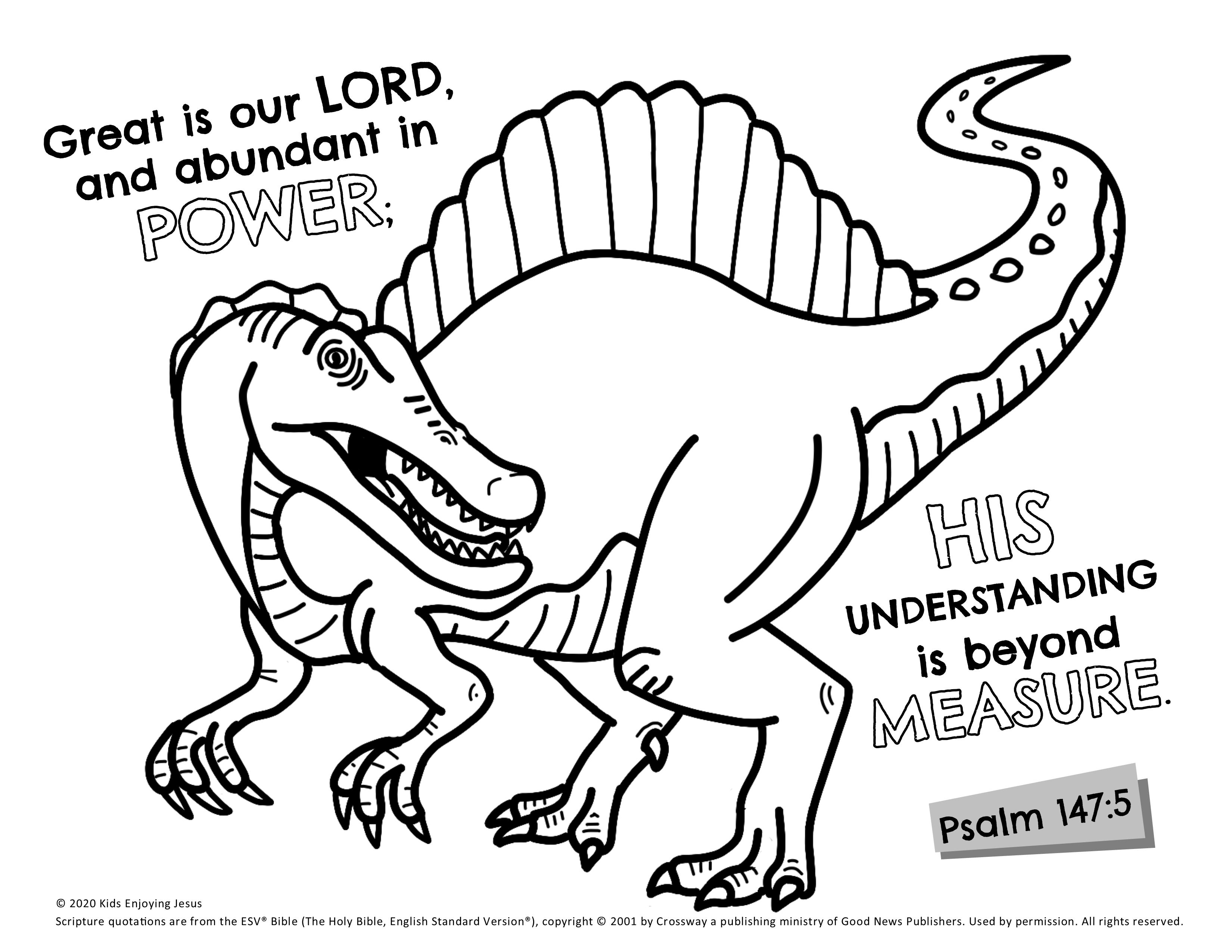 Spinosaurus Coloring Page - Kids Enjoying Jesus